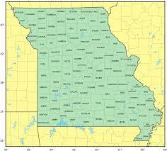 counties map of missouri • mapsofnet
