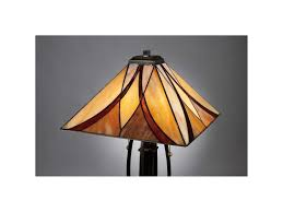 quoizel asheville valiant bronze tiffany two light table lamp