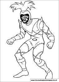 Power Rangers Colouring Pages 57 Character Printable Online