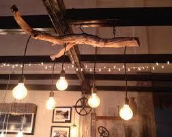 driftwood lighting. lisau0027s driftwood branch chandelier lighting o