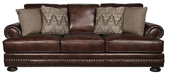 foster leather sectional sofa trim nailhead