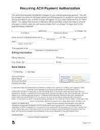 Deposit Templates Vendor Ach Authorization Form Template Payment Deposit
