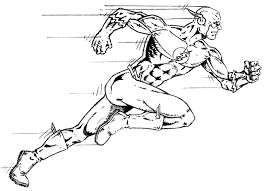 Small Picture running Superhero The Flash Coloring Pages for kids boys and girls