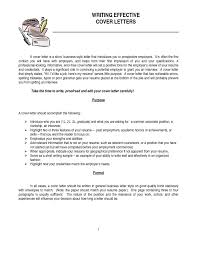 Writing Effective Cover Letters Cover Letter School Secretary