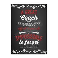 Great Coach Quotes Magnificent 48 X 48 Coach Appreciation Thank You Card Printable Instant Download