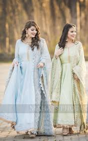 Designer Outfits Brides Sisters On The Nikkah Day Designer Party Wear