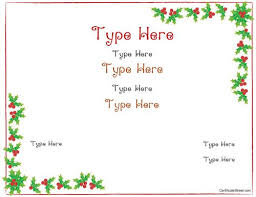 christmas certificates templates blank certificate christmas certificate template