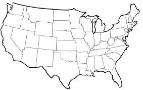 blank states map13 blank states map dr odd on map of united states with time zones printable