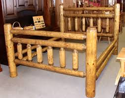 Rustic Frontier Log Bed | Amish Traditions WV