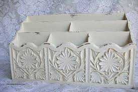 shabby chic office accessories. Shabby Chic Office Accessories Fresh Decor Vintage Desk Organizer Bills Letter B