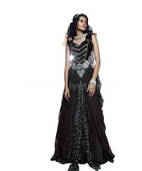 Designer Gown In Black Colour Black Colour Designer Wedding Gown