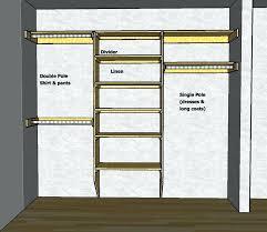 closet bar height clothes rod coat standard hanging