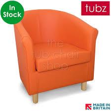 tuscany tub chair orange dor faux leather light gb tubz stock7 loading zoom tuscany tub chair orange dor faux leather dark gb tubz71
