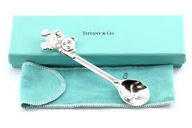 tiffany baby jewellery co sterling silver teddy bear child feeding spoon with box pouch australia
