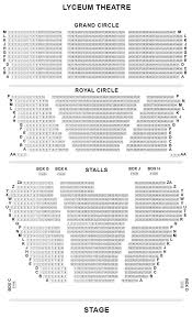 Lion King Broadway Seating Chart Lyceum Theatre Seating Plan Lion King