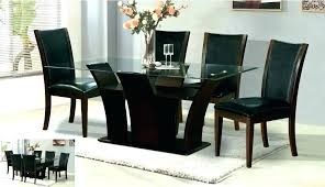 glass top dining table with wood base gla top dining table with wood base top dining glass top dining table