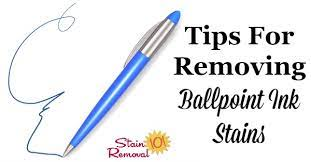 stain removal ballpoint ink tips to