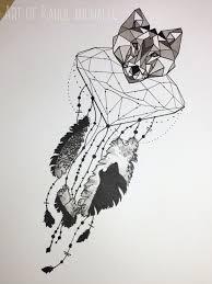 Unusual Dream Catchers Crystal Wolf tattoo design by me Album on Imgur 96