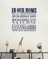 in our home we do family wall art sticker for home decorating from wallartcompany