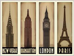 famous architecture in the world. 4 Panels World\u0027s Famous Architecture Buildings Decorative Hanging Paintings Frameless Canvas Paintings-in Painting \u0026 Calligraphy From Home Garden On In The World E