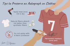 preserve an autograph on leather shoes and clothes
