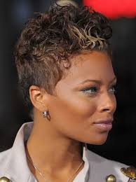 best short two colored haircut african american