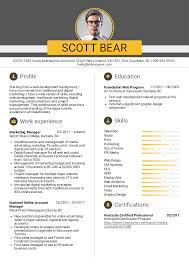 Marketing Director Resume For Study Template Manager Account Sample