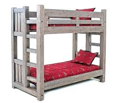 painted bunk beds wood twin cottage bed over full living spray paint ikea