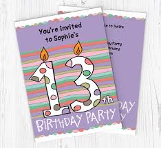 13th Party Invitations 13th Birthday Candle Party Invitations