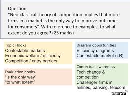 economics essay technique contestable markets  question neo classical theory of competition implies that more firms in a market is