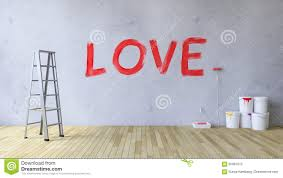 Flor Design Tool Love On The Wall Stock Photo Image Of Brush Room Paint