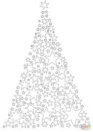 Small Picture Christmas Tree Made of Stars coloring page Free Printable