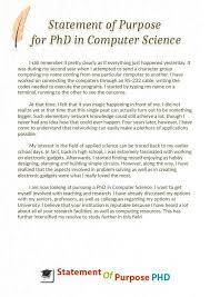 Statement Of Purpose Graduate School Beautiful Download Free Sample