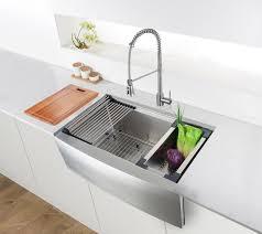 ruvati 33 inch a front workstation farmhouse kitchen sink 16 gauge stainless steel single bowl rvh9200