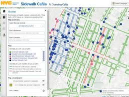 Nyc Vending Machine License Delectable There's A New Interactive Map That Shows You Every Sidewalk Cafe In