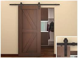 image of antique sliding barn doors interior