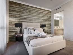 master bedroom feature wall: grey bedroom design idea from a real australian home bedroom photo