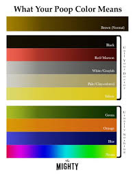 Stool Color Chart Images What Does Your Poop Color Mean For Your Health The Mighty