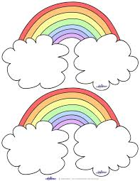 Blank Printable Rainbow Thank You Cards Coolest Free