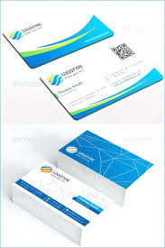 Double Sided Business Cards Template Word Card Psd Two Image