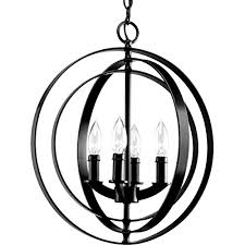 new galaxy lighting modern meridian 4 light pendant chandelier antique black 16 inch