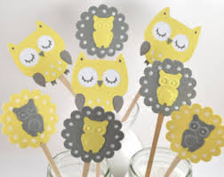 Owl Cake Toppers And Cupcake Decorations Birthday Cake AndBaby Shower Owl Cake Toppers