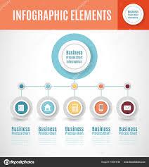 Infographic Chart Business Process Chart Infographics Step Segments Circular