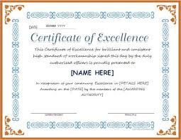 Award Of Excellence Certificate Template Certificate of Excellence for MS Word DOWNLOAD at http 29
