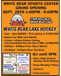 Join Us For The White Bear Lake Sports Center Grand Opening