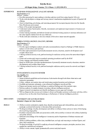 Intelligence Analyst Resume Examples Intelligence Analyst Senior Resume Samples Velvet Jobs 29