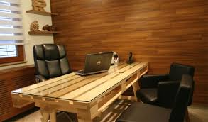 how to make office desk. Uniform Color And Clean Lines Make This Pallet Desk Professional, Not  Cobbled Together Or Rustic. If You Want To Go For Look With Your Home Office How ,