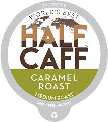 Great mornings start with a perfectly brewed cup of coffee. World S Best Half Caff Caramel Roast Flavored Coffee Pods Maud S Coffee Tea