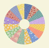 Circle Quilt Patterns Amazing Dresden Plate Quilt Pattern With History Of This Free Block