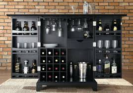 glass bar cabinet handle front wall mounted